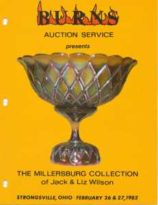 One of the auction flyers from the Forrest and Margaret Hochstetler collection